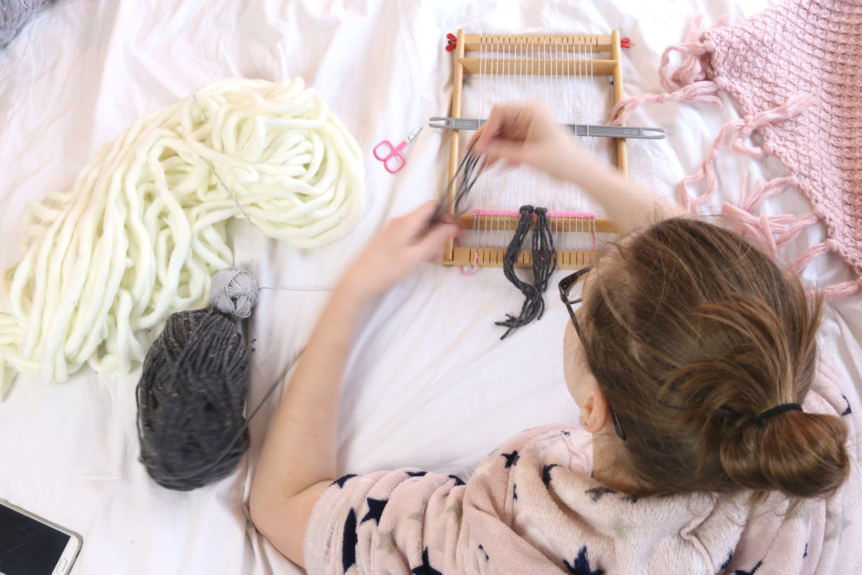 weven, wandkleedje weven, wandkleed weven, weefrek, weef rek, DIY weven,