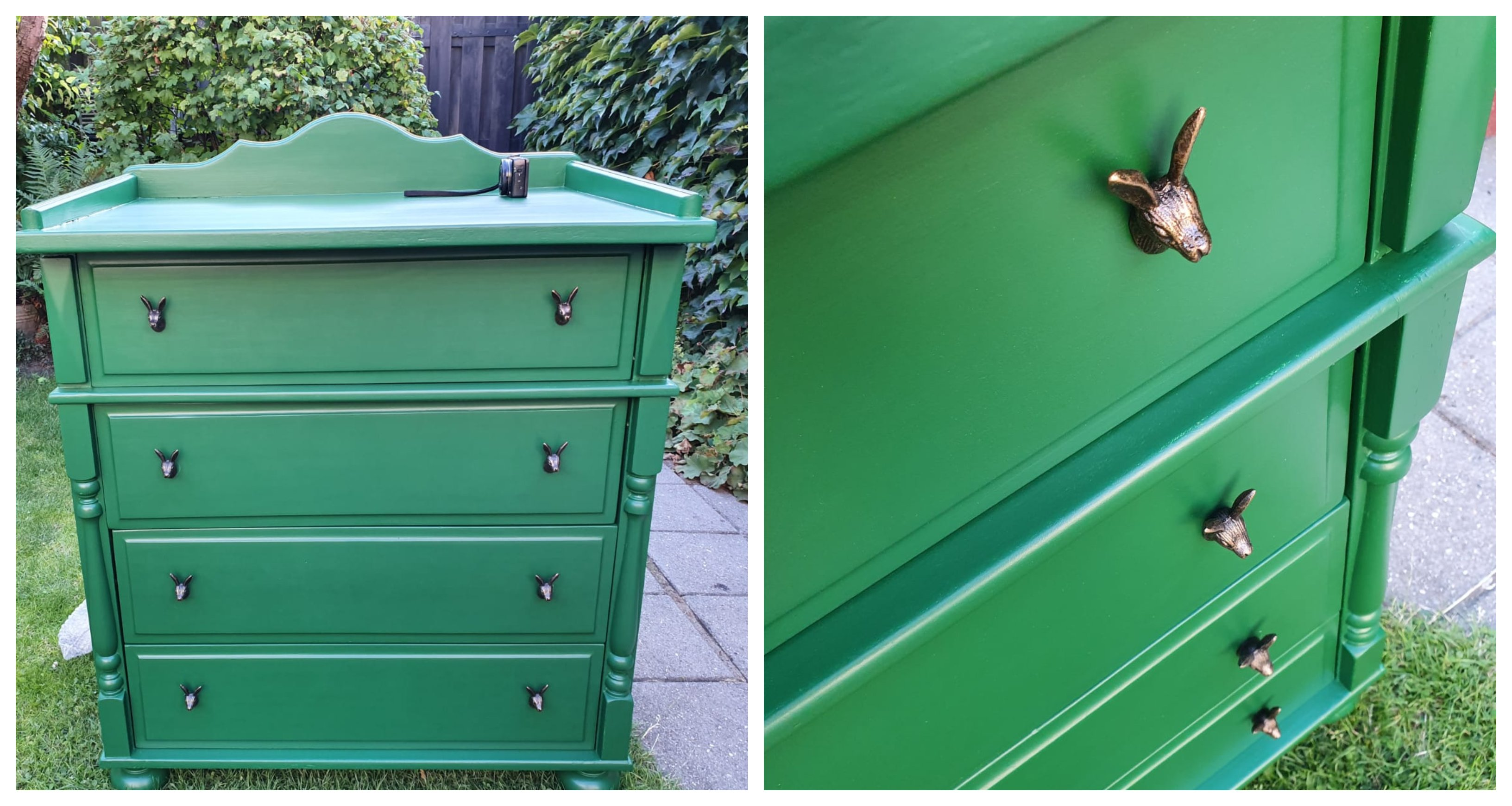 DIY commode, vintage commode, commode pimpen, how to commode pimpen, hazen knopjes, vintage commode,
